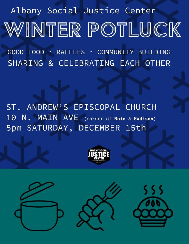 winter flyer for potluck